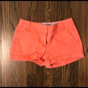 "J. Crew 3"" Chino Shorts Size 4, Coral Pink"